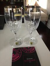 Set of 2 Waterford Crystal Lis Essence Wide Plat Band Beverage Glasses SALE