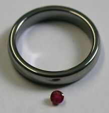 RUBINO NATURALE Gemstone 3mm ROUND Cut Loose Sfaccettato 0.15ct Gem ru41f
