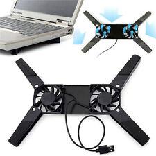 Laptop Desk Support Dual Cooling Fan Notebook Computer Stand B Rack Holder S2