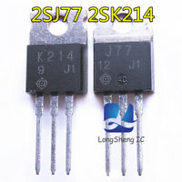 2pcs New original J77 K214 2SJ77 2SK214 audio power amplifier on tube TO-220