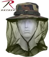 New Boonie Hat Woodland Camo Military Boonie Hat W/ Mosquito Netting Rothco 5833