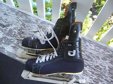 VINTAGE JOFA MODEL 166 ICE HOCKEY SKATES   ADULT Sz 7 1/2 with SKATE GUARDS