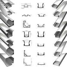LED Aluprofil Aluminium Profile Alu Schiene Leiste Leuchte 2m für LED-Streifen