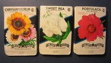 Wholesale Lot of 75 Old 1950's Vintage - FLOWER - SEED PACKETS - 310B - EMPTY