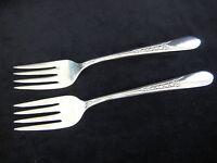 "Set Of 2 WM Rogers Mfg. Co Original Rogers Silverplate Forks, 6"" Long"