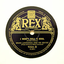 "BRIAN LAWRANCE & HIS SEXTET ""If It Rains - Who Cares?"" (EE+) REX 9344 [78 RPM]"