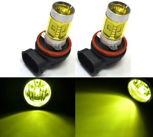 LED 30W H11 Yellow 3000K Two Bulbs Fog Light Replace Lamp Plug Play Upgrade OE