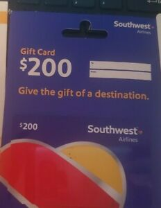 Southwest Airlines $200.00 Gift Card Worldwide Shipping