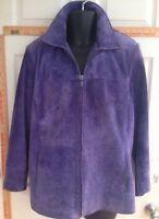 Bernardo For Nordstrom Women's 1X Purple Suede Jacket