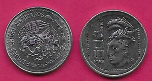 MEXICO 50 CENTAVOS 1983 UNC PALENQUE CULTURE,HEAD WITH HEADDRESS 3/4 LEFT NATION