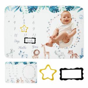 Baby Newborn Milestone Blanket Photography Background Prop Monthly Growth🎊Photo