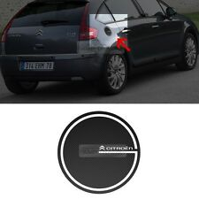 Fuel Tank Cap Cover Carbon Black Decal Sticker for Citroen 2013-2015 C4 Picasso
