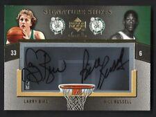 2007 UD Sweet Shot Acetate Larry Bird/Bill Russell Dual Auto Card #3/15 Celtics