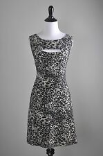 BETSEY JOHNSON $138 Textured Stretch Leopard Sexy Cutout Front Dress Size Large
