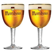 2x33cl Maredsous Belgian Beer Glasses - M17 Ritzenhoff Cristal - Benedictine