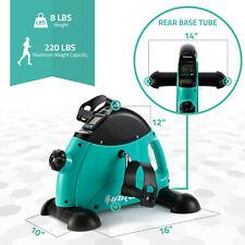 Harvil Compact Under Desk Pedal Exercise Bike Adjustable Resistance Lcd Screen