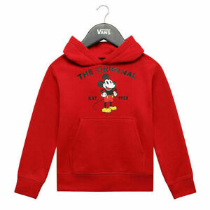 Vans Off the Wall x Disney Mickey Mouse Hoodie Sweater Youth RED Size MEDIUM NEW