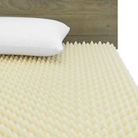 72L x 34W x 3 inch Soft Foam Twin Bed Pad Mattress Egg Crate Overlay Topper NEW