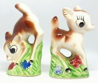 Miniature Fawn Bookends Vintage Deer Salt and Pepper Shakers