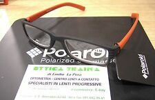 Occhiali x Lettura Reading Glasses Polaroid R973 E +3.00 Nero Rosso  Black red