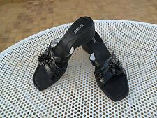Scarpe NERO GIARDINI Donna- Mod.Sandali Ciabatte Pantofole Pelle Tacco Zeppa-n39