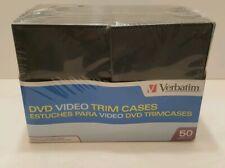 Verbatim CD DVD Video Trim Cases 50 Pack NEW