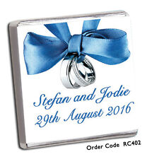 50 Personalised Chocolate Wedding Favours :-)  400+ DESIGNS FOR 2020 & FREE P+P!