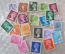 Stamp- A collection of GB Stamps - lot of 21 (Used & Unused)