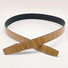 Handmade 32mm Reversible Glaze Beige Crocodile belt Size 95 Free Shipping