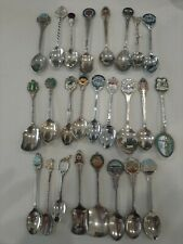 Vintage Collectable Souviner Spoons X 25