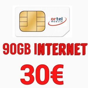 Ortel Prepaid - SIM- Karte inkl. 90GB Internet