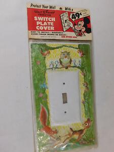 RARE WDP Disney Bambi Switch Plate Cover Mint in Package MIP Plastic Metal Mfg.