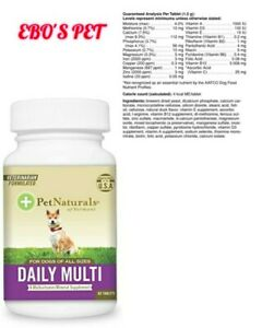 Pet Naturals Daily Multi for Dogs, 60 Chewable, All Types of Dogs