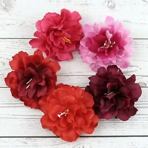 10/100Pcs 8cm Artificial Silk Rose Peony Flower Heads Bulk Craft Wedding Decor