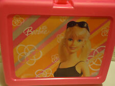 """Barbie"" Bright Pink Hard Plastic Lunch Box With Thermos.New.2004"