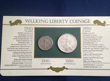 1940-1990 Walking Liberty Half Dollar American Silver Eagle Collection  E5378
