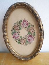 Antique Oval Frame with a cast details  MINIATURE  ROSE TAPESTRY