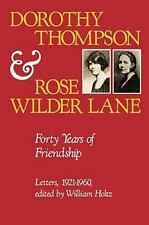 Dorothy Thompson and Rose Wilder Lane: Forty Years of Friendship, Lett-ExLibrary