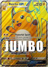 Raichu GX SM90 Full Art JUMBO CARD Shining Legends Premium Collection