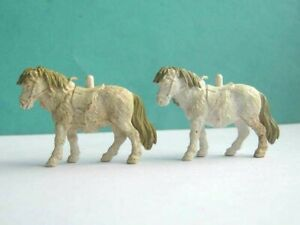 2 x BRITAINS TOYS 1970's. FARMYARD SMALL PONIES.. PLASTIC ANIMALS. 1/32 SCALE
