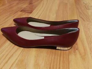 Michael Kors Womens scarlet Leather Slip On Pointy Toe Flats size 39.5