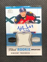2014-15 SP GAME USED VINCENT TROCHECK INKED ROOKIE JERSEY AUTO #ed 123/149