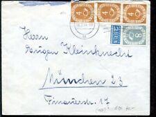 Bund Nr. 124 + 127 MiF Posthorn auf Bedarfsbrief