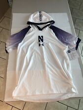 Northwestern Wildcats Under Armour Hooded Shooter Basketball Jersey Large Mens