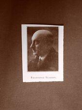 Stampa del 1923 Francesco Scardin Collaboratore dell'Illustrazione Italiana