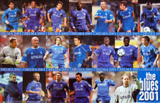 Chelsea FC THE BLUES 2001 Vintage Original POSTER (19 Players on One Poster)