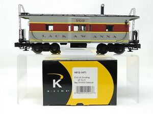 O Gauge 3-Rail K-Line K612-1471 D&LW Lackawanna Bay Window Caboose #909
