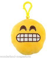 EMOTICON Appendino portachiavi SONORO in Peluche varie Faccine emoji risata baci