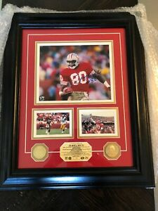 2010 Jerry Rice Hall of Fame Induction Photo Matted/Framed & Auto #13/50~NEW