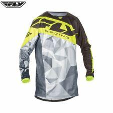 Fly Racing Youth MX Motocross Jersey BMX MTB (Kinetic Crux Black/Grey/Hi-Viz)